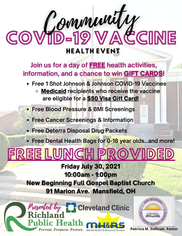COVID Vaccine Health Event